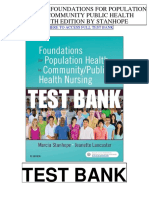 Foundations Population Health Community Public Health Nursing 5th Stanhope Test Bank