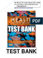 Health Health Care Delivery Canada 2nd Thompson Test Bank