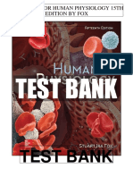 Human Physiology 15th Fox Test Bank