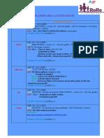 PLANIFICAREA ACTIVITĂŢILOR 13.01-17.01
