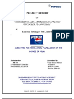 Project on Pepsi