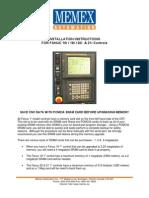 FANUC 18i Memory Upgrade Instructions