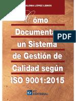 Como Documentar Un Sistema de Gestion de Calidad Segun Iso 9001