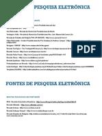 FONTES DE PESQUISA ELETRONICA