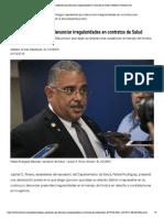 Alegan represalias por denunciar irregularidades en contratos de Salud - Puerto Rico