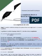 FRAN 321. COURS 2. LE COMPLÉMENT DIRECT ET LE COMPLÉMENT INDIRECT. (2)