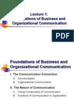 EN3165_LT1 (Foundations of Bus & Org Comm) Presentation for Edit
