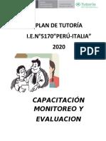 plan de tutoría