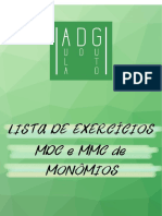 MDC e MMC de Monomios