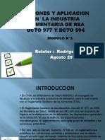 CURSO APLICACION DE RSA DCTO 977 Y DCTO 594.