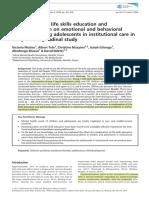 Mutiso, et.al. (2018) Psicoeducacion y habilidades para la vida