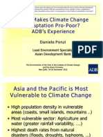 What makes climate change adapataion pro-poor? Experiences from ADB - Presentation