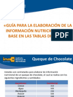 GUÍA PARA LA ELABORACIÓN DE INFORMACIÓN NUTRICIONAL CON BASE EN LAS TABLAS DE INCAP (1)