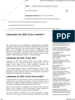 instalação de lâmpadas led