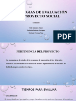 Estrategias de evaluación del proyecto social