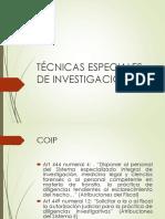 TÉCNICAS DE INVESTIGACIÓN