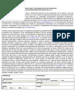 AUTORIZACIÓN PARA EL TRATAMIENTO DE DATOS PERSONALES  GRUPO CEO