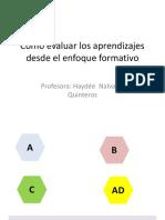 Cómo evaluar  - enfoque formativo HAYDE NALVARTE