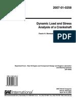 Tarea 1- 2007-01-0258 Dynamic Load and Stress Analysis of a Crankshaft.pdf