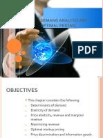 Demand analysis and optimal pricing.pptx