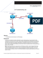 CCNPv6 ROUTE Lab8-5 IPv6 Troubleshooting Student