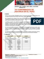 Reporte Coronavirus Peru 2020 Marzo