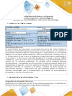 Syllabus del curso  - Modelos de intervención en psicología (2)