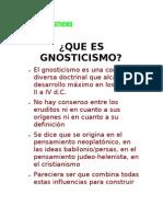Gnosis y Gnosticismo Revelado