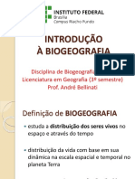 1 INTRODUCAO A BIOGEOGRAFIA