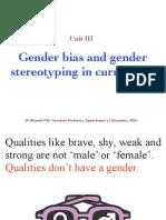 Gender Bias and Gender Steriotype in Curriculum