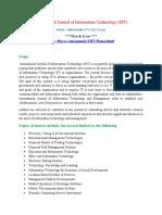 International Journal of Information Technology (IJIT)