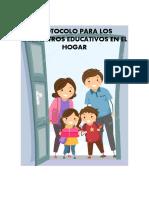 PROTOCOLO PARA LOS ENCUENTROS EDUCATIVOS EN EL HOGAR