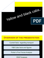 Yellow and Black Cabs