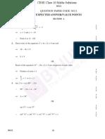 CBSE Class 10 Maths Solution PDF 2019 Set 1