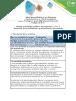 Guia de actividades y rubrica de evaluación - Fase 3 - Desarrollo de la problemática y consolidación del proyecto