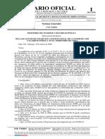 Decreto número 104, de 2020. MINISTERIO DEL INTERIOR Y SEGURIDAD PÚBLICA, Subsecretaría del Interior - Declara estado de excepción constitucional de catástrofe, por calamidad pública, en el territorio de Chile.