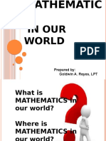 GE 104 - Mathematics in our World