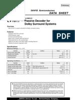LV1017 Passive Dolby Suround Decoder