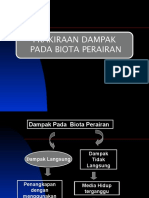 Prakiraan  Dpk pada Biota Perairan