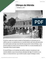 Historia del Olimpo de Mérida – El Blog de Mérida en la Historia