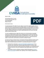 CVHSA Letter to Gov. Cuomo