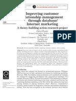 Customer Relationship Management Through Database-Internet Marketing