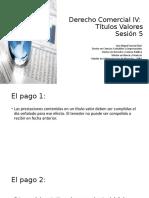 Sesión 5 Pago y acciones cambiarias