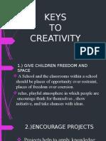 keys to creativity