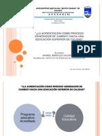 LA ACREDITACIÓN COMO PROCESO GENERADOR DE CAMBIO2