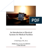 0005454- An Introduction to Electrical Systems for Medical Facilities