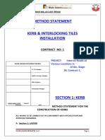 007 MS - Kerb & Interlocking Tiles Installation