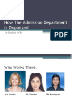 How the Admission Department is Organized