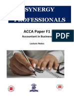 F1 - ACCA Lecture Notes