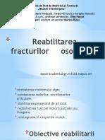 Reabilitarea fracturilor     osoase